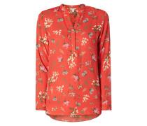 Blusenshirt mit floralem Muster im Asia-Look