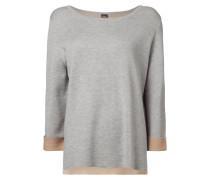 Pullover mit Innenseite in Kontrastfarbe