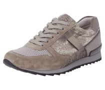 Sneaker mit Einsätzen in Metallicoptik