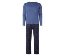 Pyjama aus reiner Baumwolle - lang