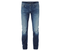 Slim-Straight Fit Jeans im Used Look