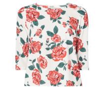 Blusenshirt mit Rosenmuster