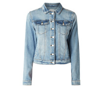 Stone Washed Jeansjacke mit Stretch-Anteil
