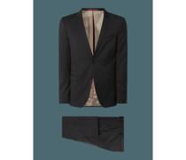 Extra Slim Fit Anzug aus Schurwolle Modell 'Arti/Hesten'