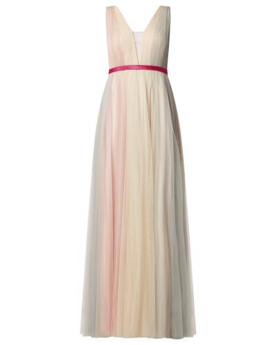 Abendkleid aus Mesh mit Farbverlauf