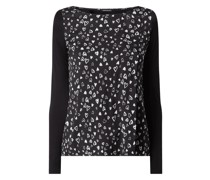 Blusenshirt mit Herzchen-Prints Modell 'Chantal'