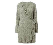 Wickelkleid mit Volants Modell 'Carly'