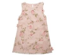 Kleid mit Blüten-Applikationen