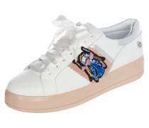 Sneaker 'Bianca' aus Leder mit Plateausohle