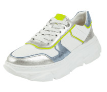 Sneaker Wedges aus Leder und Mesh Modell 'Nava'