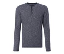 Shaped Fit Serafino-Shirt aus Baumwolle