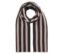 Schal mit fein strukturiertem Streifenmuster