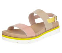 Sandalen aus Lackleder mit Riemen