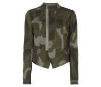 Slim Fit Blazer mit Camouflage-Muster