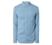 Regular Fit Freizeithemd aus Lyocell Modell 'Konrad'