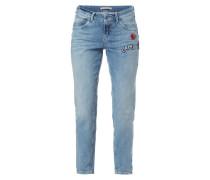 Boyfriend Fit Jeans mit Aufnähern