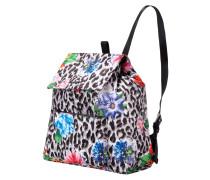 Rucksack mit Leoparden- und Blumenmuster