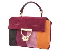 Arlettis Stripes-Crossbody Bag aus Veloursleder