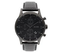 Chronograph mit Armband aus echtem Leder