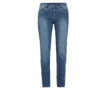 Stone Washed Regular Fit Jeans mit Ziersteinen