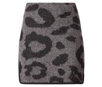 Wollrock mit Leopardenmuster