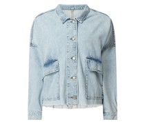 Oversized Jeansjacke aus Baumwolle