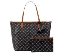 Shopper mit Logo-Muster Modell 'Lara'