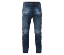 Double Stone Washed 3D Tapered Fit Jeans