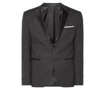 Slim Fit Smoking-Jacke mit Spitzfasson