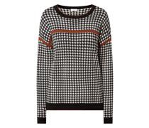 Pullover mit Hahnentritt-Dessin