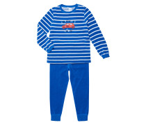 Pyjama aus Frottee mit Auto-Aufnäher