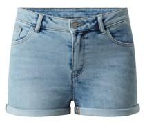 Jeansshorts aus Sweat Denim