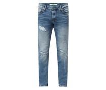 Skinny Fit Jeans mit Stretch-Anteil Modell 'Miami'