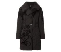 Mantel mit floralen Details aus Flockprint