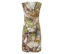 Kleid mit Drapierung und floralem Muster