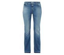 Boot Cut Stone Washed Jeans mit Used Effekten