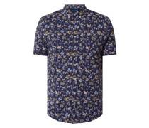 Slim Fit Business-Hemd aus Jersey mit kurzem Arm - 'Futureflex'