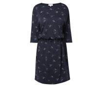 Kleid mit Tunnelzug und Allover-Muster