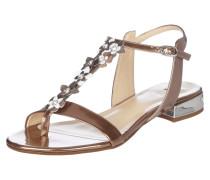 Sandalen mit Besatz aus Swarovski-Kristallen