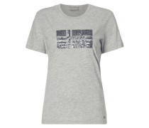 T-Shirt mit Logo aus Pailletten