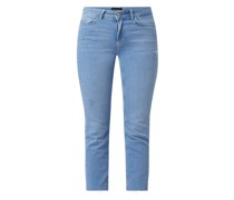 Cropped Straight Fit Jeans mit Stretch-Anteil Modell 'Delly'