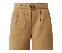 Shorts mit Paperbag-Bund Modell 'Enid'