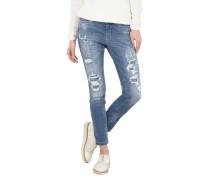 Destroyed Skinny Fit Jeans mit Bleached-Details