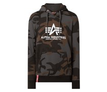 Hoodie mit Camouflage-Muster