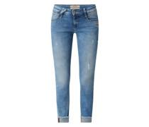 Cropped Jeans mit Stretch-Anteil Modell 'Nena'