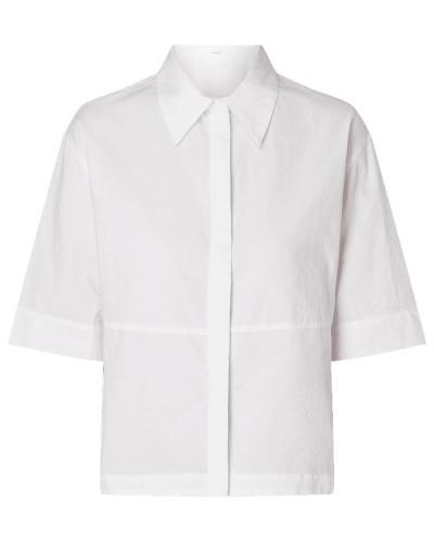 Bluse aus Baumwolle mit Webmuster