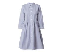 Hemdblusenkleid aus Baumwolle Modell 'Lorianna'