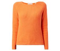 Pullover im Rippenstrick mit Raglanärmeln