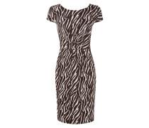 Kleid mit gelegten Falten im Zebra-Look