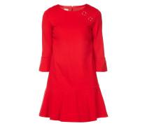 Kleid mit Zierösen im Schulterbereich
